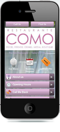 comoibiza mobiele website