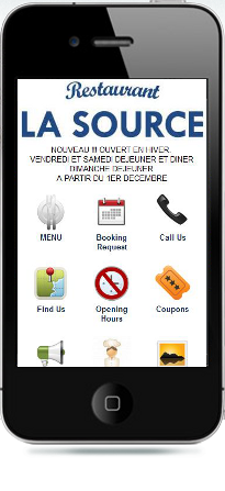 restaurant la source mobiele website